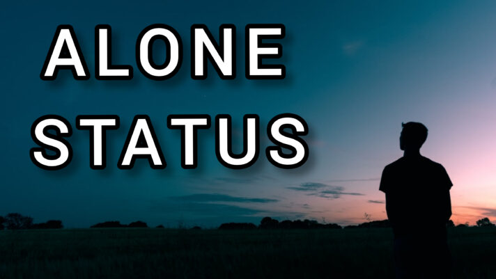 Feeling Alone status Images Download